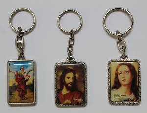 Set-de-3-LLaveros-Religiosos-Imagenes-Virgen-Jesus-y-San-Engracio-Anos-80-90