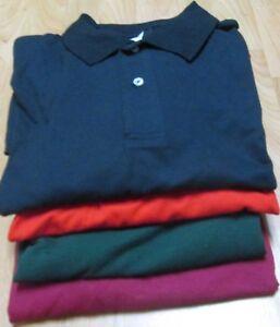 Men-039-s-Golf-Shirt-3XL-Fruit-of-the-loom-6-Pc-Lot-4-Color-100-Cotton-50-50