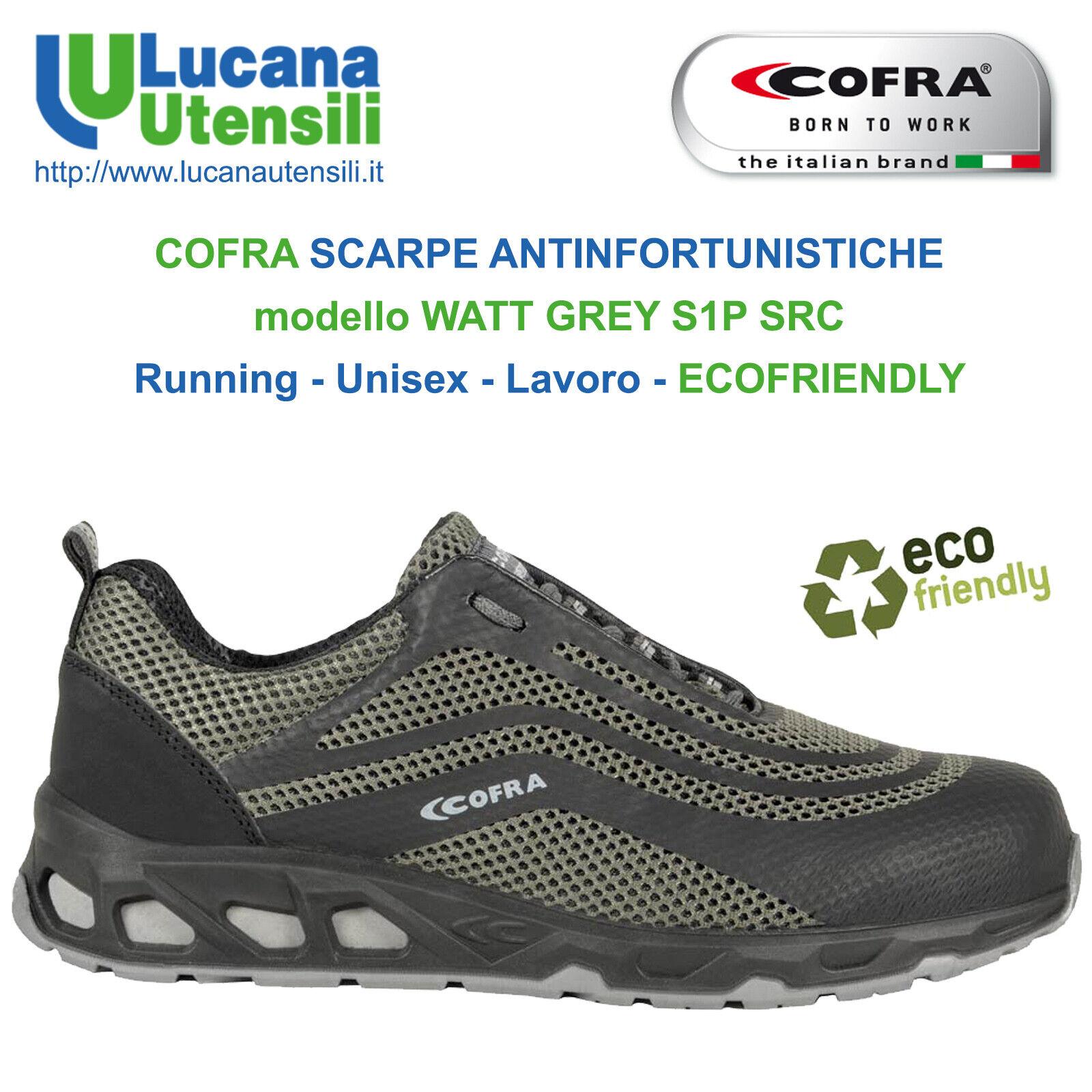 COFRA zapatos ANTINFORTUNISTICHE modello WATT gris S1P SRC - 2019 Unisex Lavoro