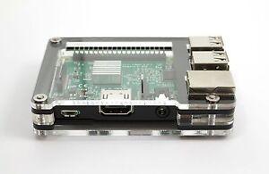 Zebra Slim Case Black Ice For Raspberry Pi 3b 3 Pi 2 Pi B