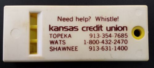 """Need Help? Whistle!"" advertising piece for the Kansas Credit Union! 2 34"" long"