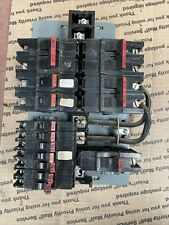 Lot Of Sta Blok Federal Pacific Circuit Breakers Including Buss Bar
