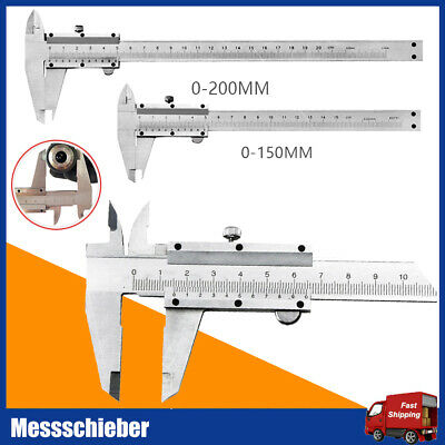 300mm x 0,02mm Präzisions Edelstahl Messschieber Messlehre