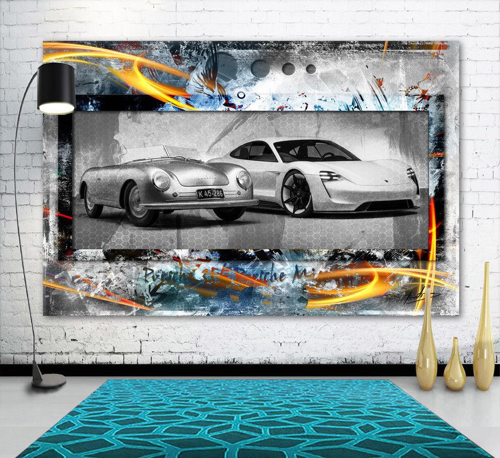 Porsche 356,Porsche Mission E Auto Wandbilder Bilder auf Leinwand Abstrakt 2244A