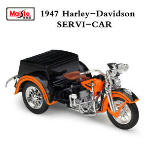 1947-Harley-Servi-Car-Tricycle-1-18-Scale-Motorcycle-Diecast-Model-Ornament