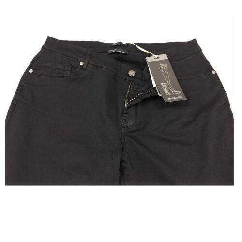 ELENA MIRO/' pantalone donna nero mod jeans cotone leggero vestibilità Skinny