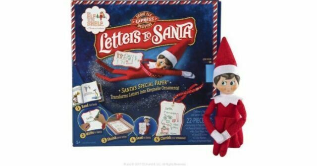 Plush Girl Elf Christmas Character Xmas Gift Box Kit Letter To Santa Elf Reports