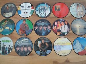 PICTURE-DISCS-7-034-VINYL-RECORDS-M-Q-Pop-Music-Chart-Presentation-Gift-Boxed