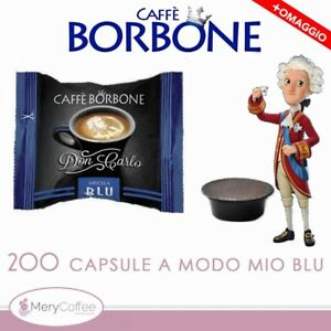 200-Capsule-Borbone-Don-Carlo-BLU-Compatibili-Lavazza-A-Modo-Mio-omaggio
