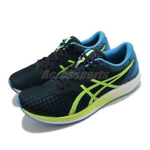 Asics-Hyper-Speed-Blue-Navy-Hazard-Green-Men-Running-Shoes-Sneakers-1011B025-400