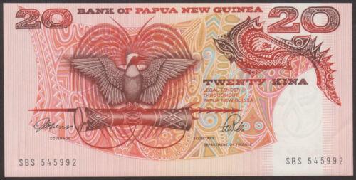 PAPUA NEW GUINEA P.10a 20  KINA 1989   Prefix  SBE      Uncirculated Banknotes