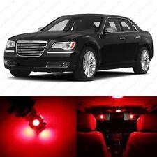 13 x Brilliant Red LED Interior Light Package For 2011- 2014 Chrysler 300 300C