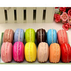 New Kawaii Soft Dessert Macaron Squishy Cute Cell phone Charms Key Straps Gift