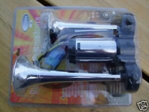 2 Klang Hupe Horn für AUTO KFZ 12V Hupe mit Kompressor universal Ersatz NEU