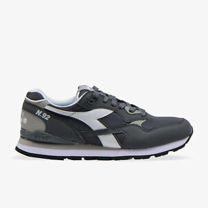 Dettagli su Scarpe uomo Diadora N92 75068 grigio sneakers sportiva camoscio tela calzature