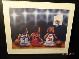 Details About Child Kid Baby Nursery Sports Wall Decor Basketball T Richards Night Superstars