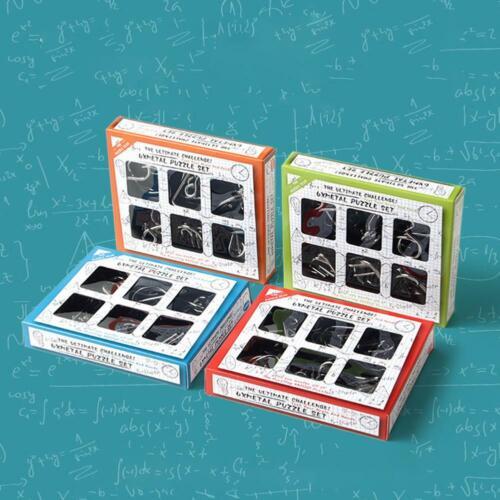 IQ toys 6x metal puzzle set.Brain teaser