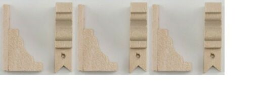 Dollhouse Miniatures 1:12 Scale Victorian Brackets 6//Pk #CLA70217
