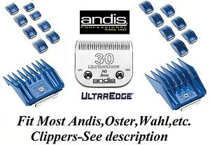 Andis Guide Attachment 17 Peigne Set&30 Lame Blade Fitmost Oster, Wahl Tondeuse