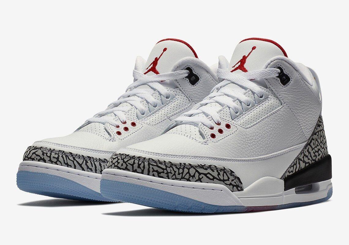 db6b9f43ecb Nike Air Jordan 3 Free Throw Line White AJ3 US Cement OG  nqtcnw4011-Athletic Shoes