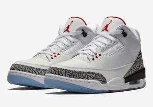 low priced 6c375 1b470 Details about Nike Air Jordan 3 OG Free Throw Line White Cement AJ3 UK 5 7  7.5 8 9 10 11 12 US