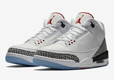 low priced a04d2 26948 Nike Air Jordan 3 OG Free Throw Line White Cement AJ3 UK 5 7 7.5 8 9 10 11  12 US | eBay