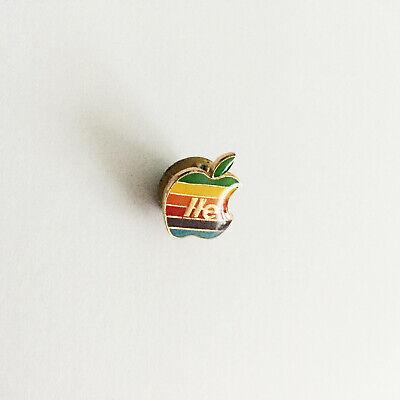 Vintage Apple Computer Rainbow Logo Pin Lapel AUTHENTIC