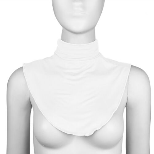 US Women/'s Cotton Fake Turtleneck Half Top Mock Blouse Dickey Collar Neck Warmer