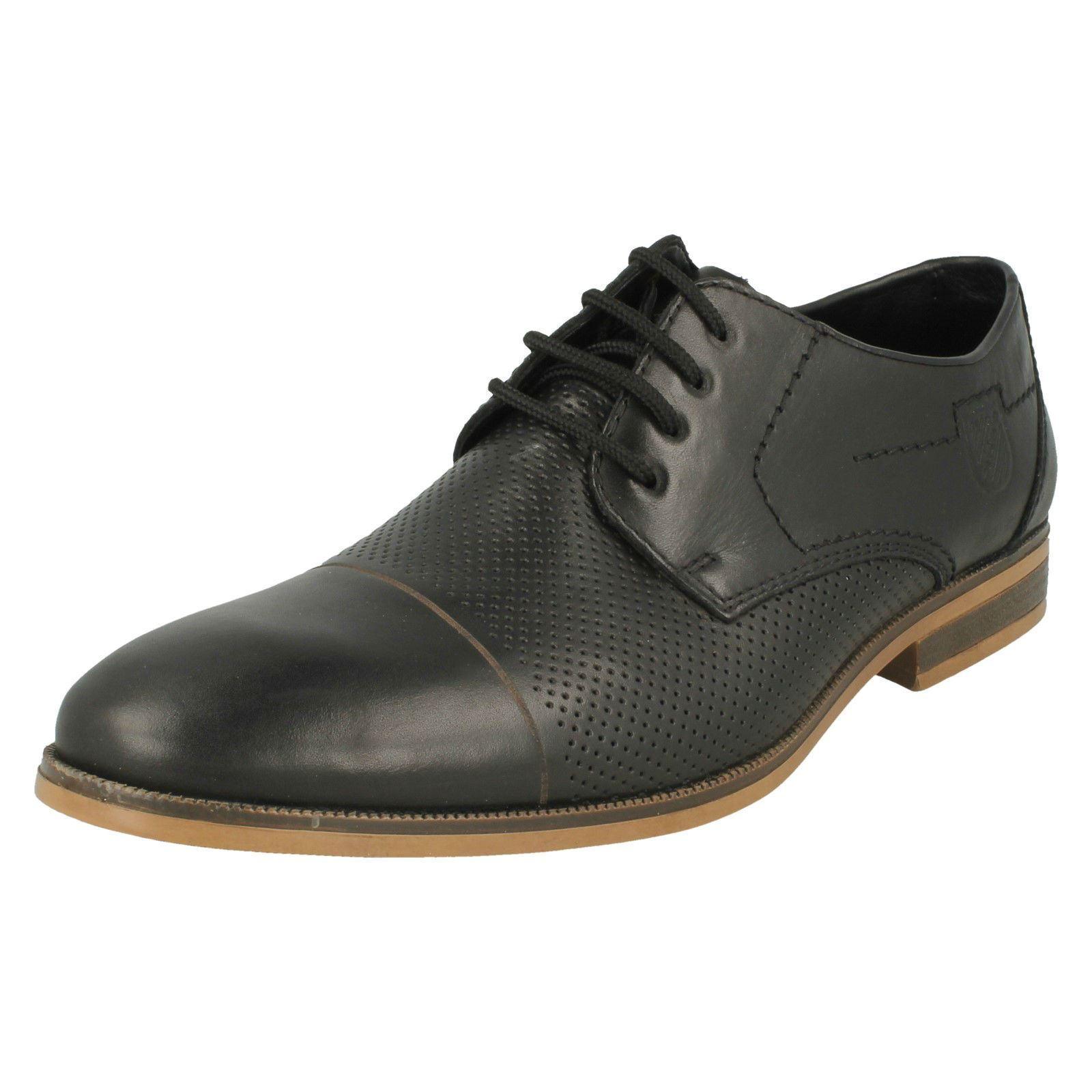 Mens Rieker 11615 Black Leather Lace Up Shoes