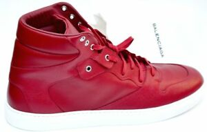best sneakers online retailer great look Details about BALENCIAGA New sz 41 - 8 Authentic Designer Mens High Top  Sneakers Shoes red