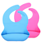 miniature 4 - Silicone Baby Bibs Waterproof Pink or Blue - 2 pack Baby Bib Silicone