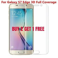FULL COVERAGE CURVED SCREEN PROTECTOR GUARD FILM FOR SAMSUNG GALAXY S7 EDGE