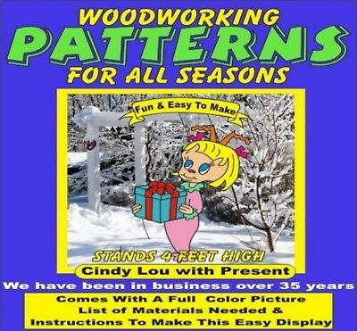 hIgh craft 4 Ft CINDY LOU WITH PRESENT CHRISTMAS WOODWORKING PATTERN,plan