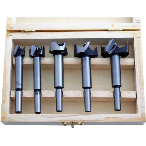 5pc Forstner Drill Bit Set Kitchen Cupboard Hinge 15//20//25//30//35mm Amtech F3800