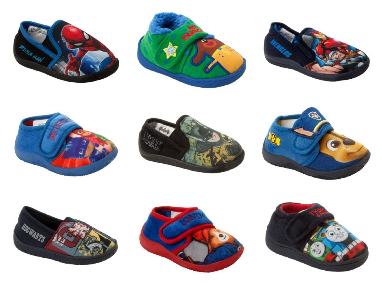 Boys PJ Masks Superhero Slip On Slippers Shoes Toddler Children Size UK 4-10
