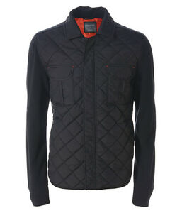 AERO-Aeropostale-Mens-Quilted-Knit-Jacket-Coat-Black-M-L-XL-3XL-NEW-NWT
