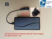 Yh Electric Lift Chair Recliner Power Transformer Adapter 29v 2a For Okin Limoss