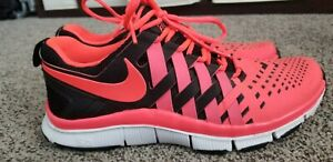 b2ff7642bd3f Nike Free Trainer 5.0 Black Atomic Red training Shoes 579809 006 Men ...