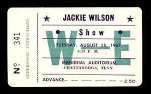 JACKIE-WILSON-1967-HIGHER-amp-HIGHER-UNUSED-CHATTANOOGA-CONCERT-TICKET-NM-2-MINT