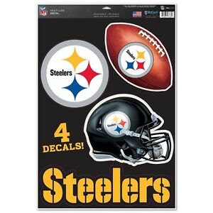Pittsburgh-Steelers-11-034-x-17-034-Multi-Use-Decals-Auto-Walls-Windows-Cornhole