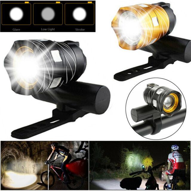 Rechargeable 15000LM XM-L T6 LED MTB Bicycle Light Bike Front Headlight w//USB CZ