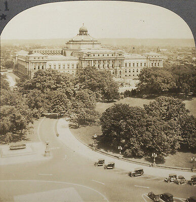 D.C From 1920/'s Scenic America Set #9 Keystone Stereoview of the Supreme Court