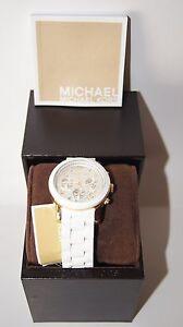 BRAND-NEW-MICHAEL-KORS-MK-5145-WHITE-GOLD-CHRONOGRAPH-WOMENS-WATCH-MK5145-Nice