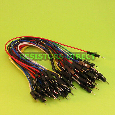 40pcs Male to Male Breadboard Jumper Wire 20cm DuPont Raspberry Pi Arduino W01