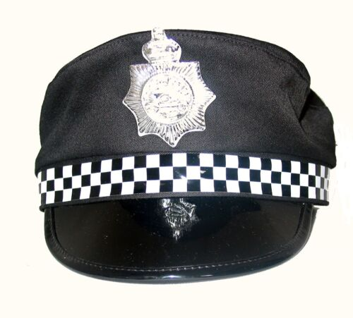 FANCY DRESS POLICE FLAT CAP HAT ADULT SIZE