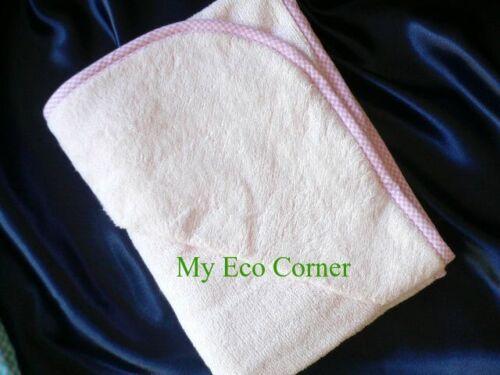 Organic Bamboo Fiber Baby Hooded Bath Towel..cashmere feel..beige//blue//pink
