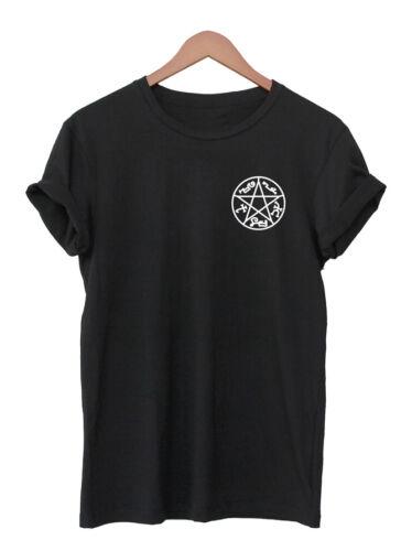Supernatural T-Shirt Diable Piège Shirt unisexe Symbole Tatouage Signe Top Winchester