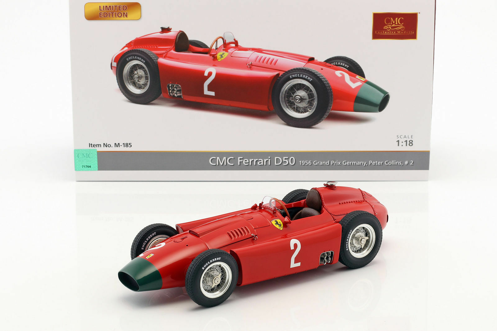 CMC 185 - FERRARI D50 LONG NOSE 2 COLLINS GRAND PRIX ALLEMAGNE 1956  1 18