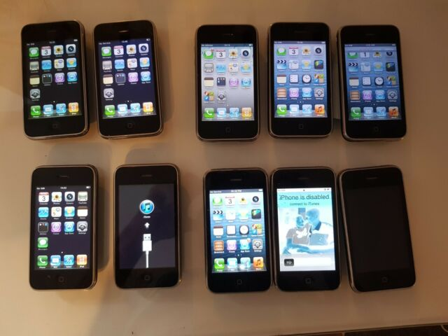 Job lot of Apple iPhone 3G and 3GSs - 8GB and 16GB - A1241 and A1303