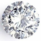 Genuine Loose Moissanite F-G White Color Round Cut VVS1 1.31 ct 7.45 mm AUD